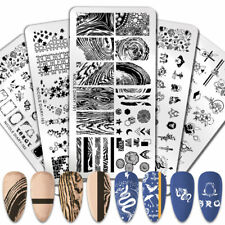 NICOLE DIARY Nail Stamping Plates Leopard Lace Templates Nail Art Decoration DIY