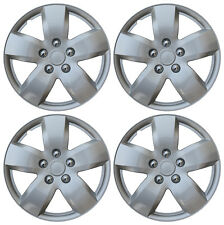 Hub Cap Abs Silver 16 Inch Rim Wheel Skin Cover Center 4 Pc Set Caps Covers Fits Mustang