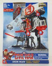 Marvel IRON MAN ARMORY Civil War Captain America Miniverse Playset Kids Toy Gift