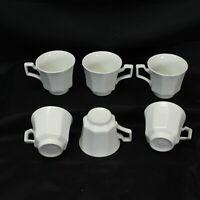 Johnson Bros Heritage Ironstone Beaded Cups Lot of 6