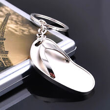 Keyring Keychain Key Chain Ring Keyfob Fashion Creative Flip Flops Slipper Metal