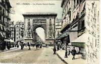 Paris- 1907 Postcard of La Posta Saint-Denis street view- dated June 16-17, 1907