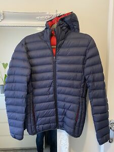 Mens Schott Down Puffer Jacket Navy Size Small (fit like XS) Excellent Condition