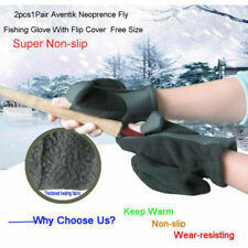 2pcs 1Pair Winter Warm Fly Neoprene Fly Fishing Glove With Flip Cover Free Size