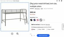 Kids Loft Style Bunk Bed With Twin Sized Mattress