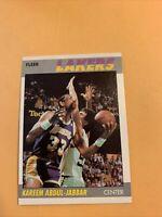#1 Kareem Abdul-Jabbar Los Angeles Lakers. 1987 88  Fleer Basketball Card Cb19