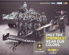 2012 Tony Schumacher signed U.S. Army Top Fuel NHRA postcard