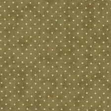 Coupon de Tissu patchwork MODA vert olive petits pois écrus 45x55cm