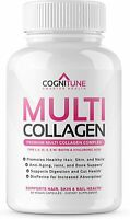 90 Cts Premium Multi Collagen Pills 2000 mg Type I,II,III,V,X Biotin Hyaluronic