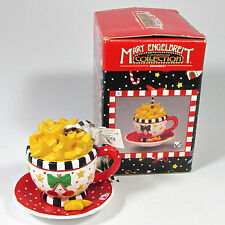 Kurt Adler Mary Engelbreit Christmas Collection Cherry Star Tea Cup Ornament Mib
