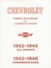 CHEVROLET 1942 thru 1946 Chevy Pick Up Truck Wiring Diagram 42-46