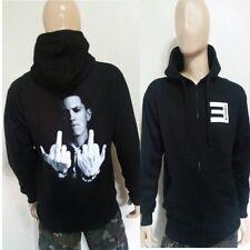 Eminem F-YOU  BLACK ZIPPER  ZIP UP / HOODIE Rappers Slim Shady rap god pullover