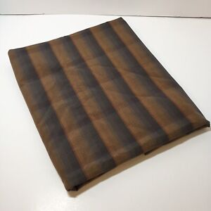 """2 & 5/8 Yards Brown Plaid Fabric 46"""" wide Cotton"""