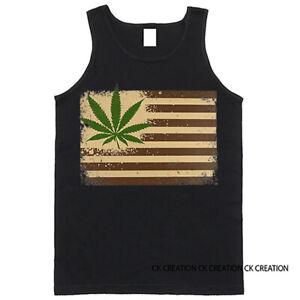 Pot Leaf Flag Graphic Tank Top
