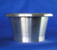 "Ram Tube / Velocity Stack 4 inch OD x 80mm Long 5"" throat 1.6mm Gauge Aluminium"