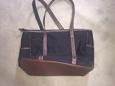 Women's Vera Bradley Duffel Travel tote Bag (Brown trim and Black)