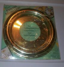 Vintage Ceiling Medallion Home Impressions Silver Colored Lightweight Home Decor