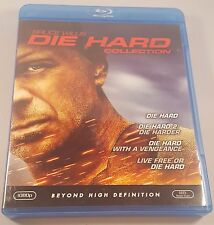 Die Hard Collection Bruce Willis Blu Ray Fast Ship! Works Great! 4 Movies!