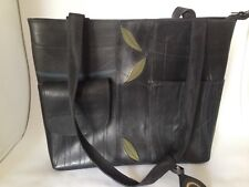 Global Exchange Fair Trade Recycled Rubber Large Bag Purse Tote 13 x 11 x 3