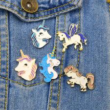Delicate Horse Unicorn Wings Deer Brooch Button Pins Jacket Pin Badge Jewelry PR