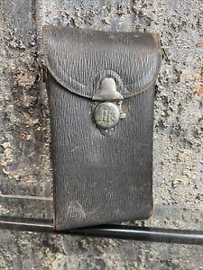 Antique Kodak 1A Black Leather Brass Lock Folding Pocket Camera Case Only