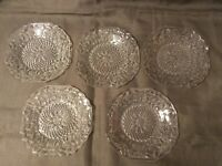 REDUCED Indiana Glass Pineapple Floral Depression Glass #618 Sherbet Bread Plate