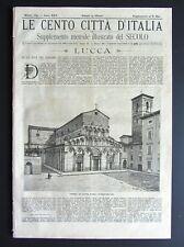 LUCCA e PESCIA  Le cento città d' Italia 1890 COLLODI