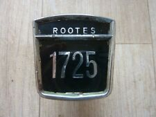Sunbeam Alpine / other Rootes cars 1725 badge + frame