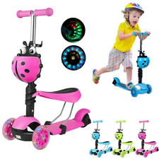 Kids Child Toddler Kick Push Scooter 3 Wheels LED Flashing Boys Girls Scooter