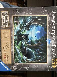 Ravensburger Puzzle 759 pc Escape Puzzle The Curse of the Wolves - Solve Riddles
