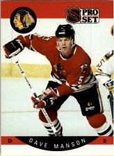 1990-91 PRO SET HOCKEY DAVE MANSON ERROR BOTH PHOTOS KONROYD #54 NMT/MT-MINT