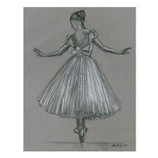 """Steve O'Connell Artist - """"En Pointe"""" - Ballerina Print - Dance- Monochrome Print"""