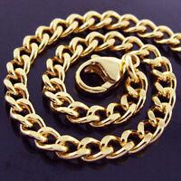 BRACELET BANGLE GENUINE REAL 18 K YELLOW G/F GOLD LADIES SOLID CURB LINK DESIGN