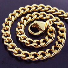 B60 GENUINE REAL 18K YELLOW G/F GOLD SOLID CURB CLASSIC CHARM BRACELET BANGLE
