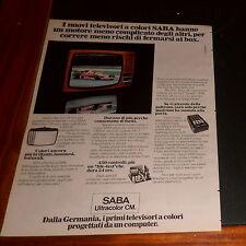 Advertising Italian Pubblicità Werbung: 1977 TELEVISORI A COLORI SABA ULTRACOLOR