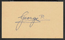 King George VI Autograph Reprint On Original Period 1950s 3x5 Card