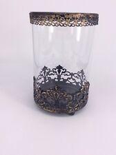 Glass Candle Holder Filigree Large