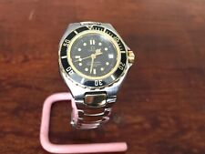 Ladies Omega Seamaster 200m Professional Pre Bond 18k gold bezel
