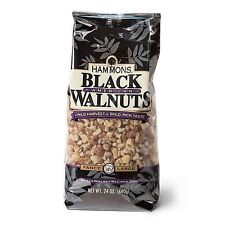One 24 oz. Bag HAMMONS PREMIUM BLACK WALNUTS, FANCY QUALITY LARGE PIECES