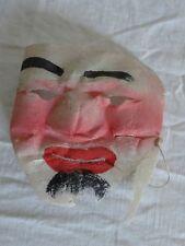 Vintage 20s SAMARIA Japanese GAUZE Hand Painted HALLOWEEN Mask MOLDED