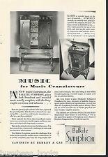 1928 BALKITE SYMPHION advertisement, radio phonograph, Fansteel Berkey & Gay