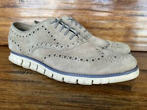 Mens Cole Haan ZeroGrand Wingtip Lace Up Oxford Shoes Size 10
