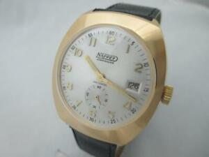 NOS NEW SPECIAL MECHANICAL ANTI MAGNETIC RARE NAPPEY BESANCON MEN'S WATCH 1960'S