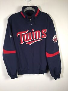 MLB Majestic Minnesota Twins jacket size L navy blue new without tags!