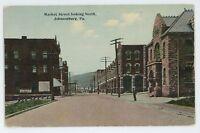 Market Street JOHNSONBURG PA Vintage Elk County Pennsylvania Postcard