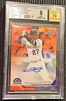 2016 Bowman's Best Trevor Story Rookie REFRACTOR 33/50 AUTO BGS 9/10 2 sub 10s!