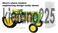 A3 John Deere Tractor 2020 Cutaway Agriculture Wall Poster Brochure Picture