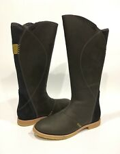 AHNU HELENA KNEE HIGH BOOTS WATERPROOF PEWTER GRAY LEATHER -US SIZE 8.5 -NEW