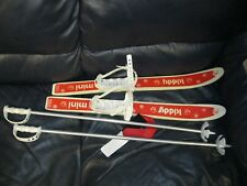 Mini Kiddy Skis with Poles Child Size Made in Austria