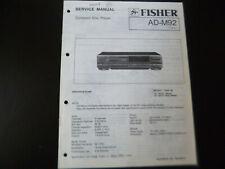 Original Service Manual Schaltplan Fisher AD-M92